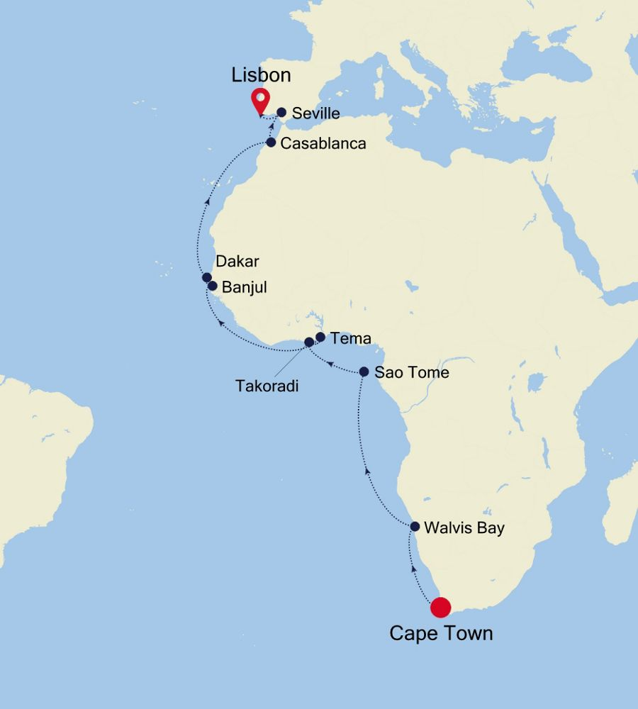 4908 - Cape Town to Lisbon