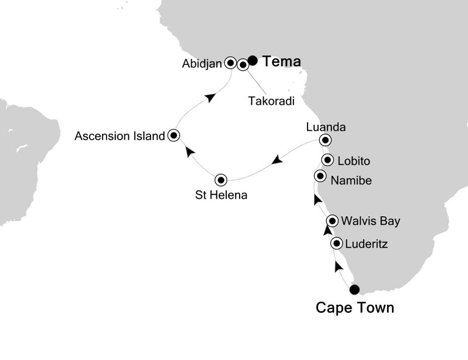 1807 - Cape Town to Tema