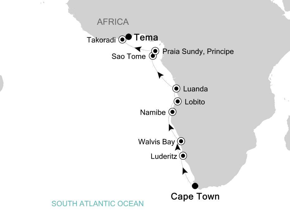 1908 - Cape Town à Tema