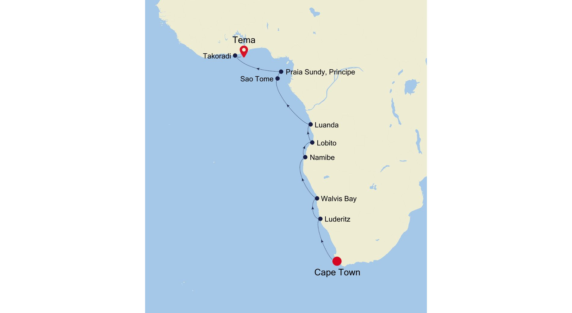 1908 - Cape Town to Tema