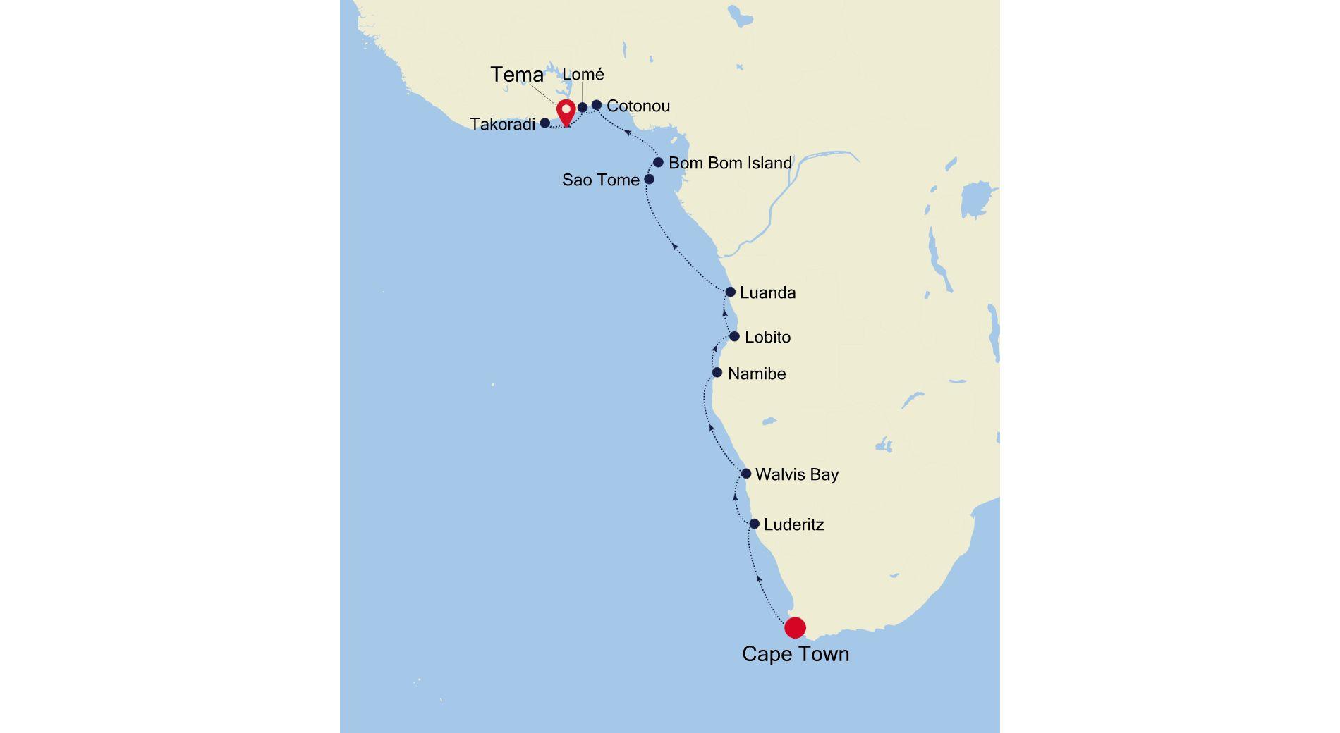 E4200320018 - Cape Town to Accra