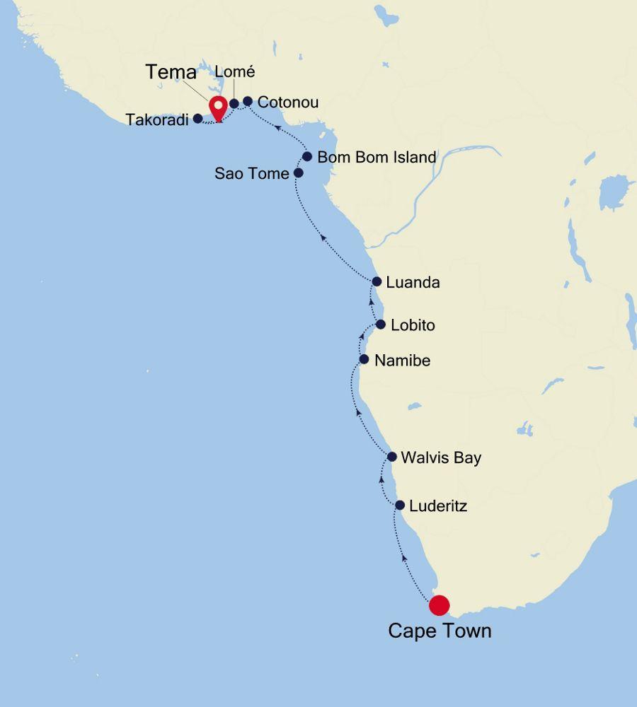 E4200320018 - Cape Town nach Tema