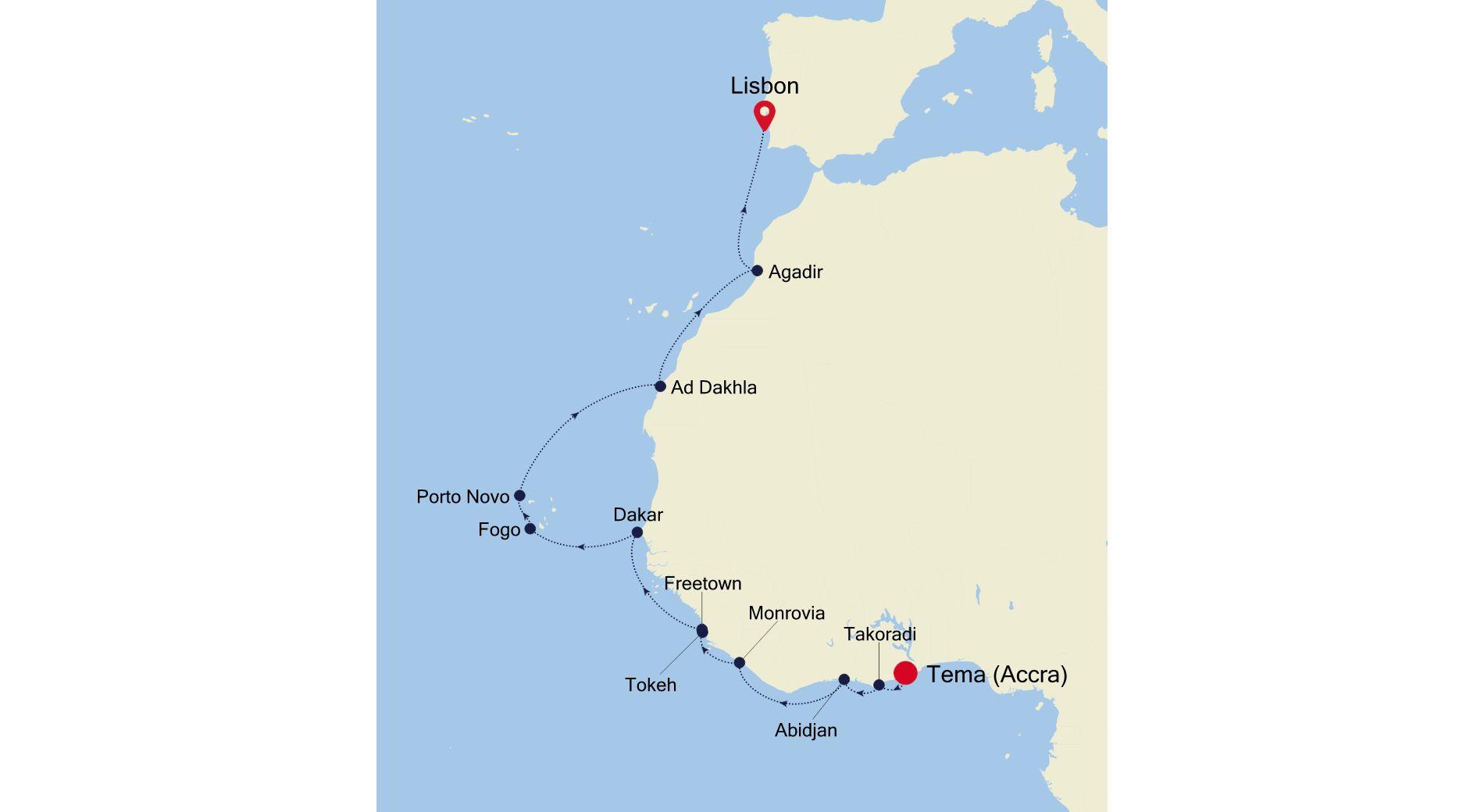 E4210417018 - Accra nach Lisbon