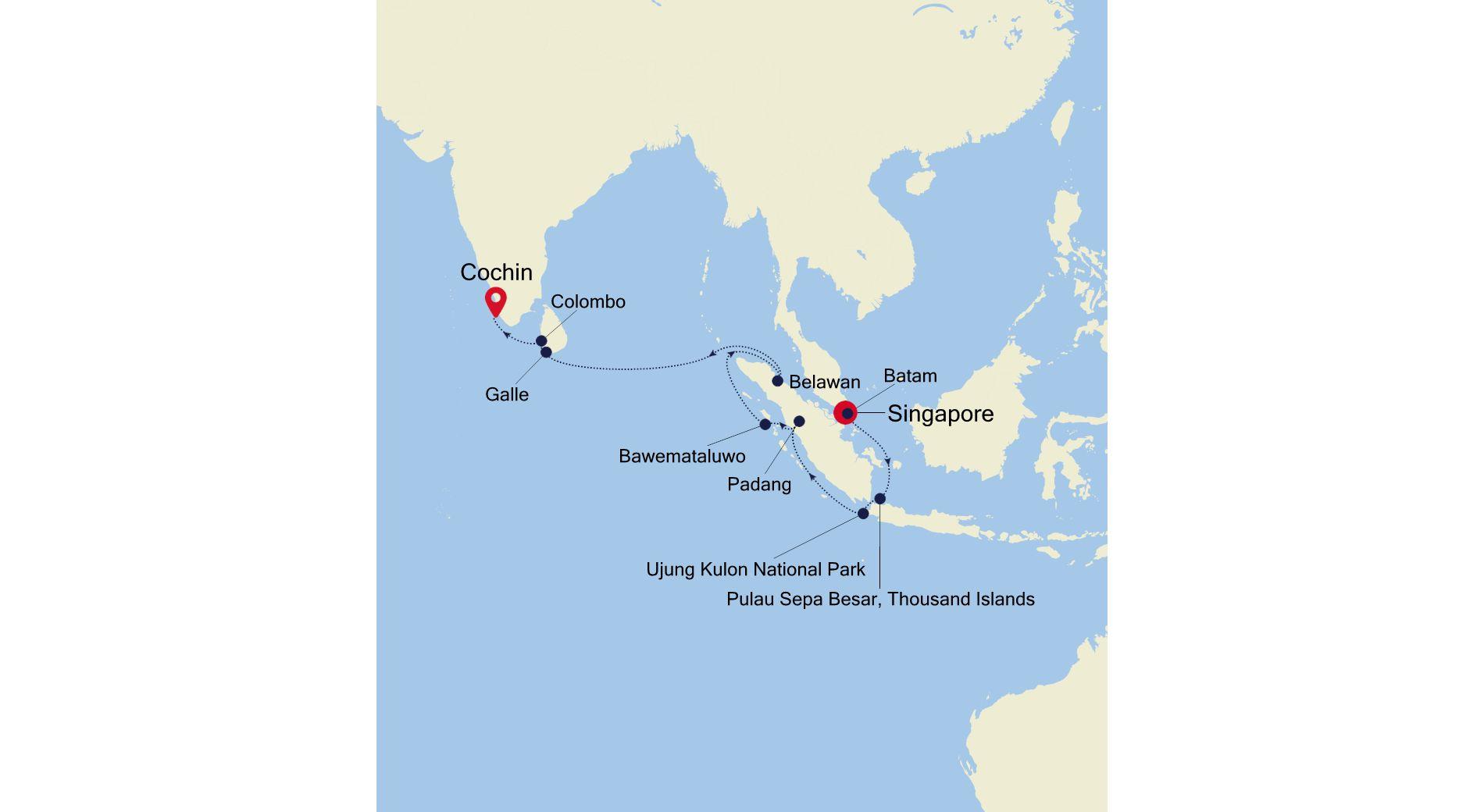 E4220423016 - Singapore a Cochin