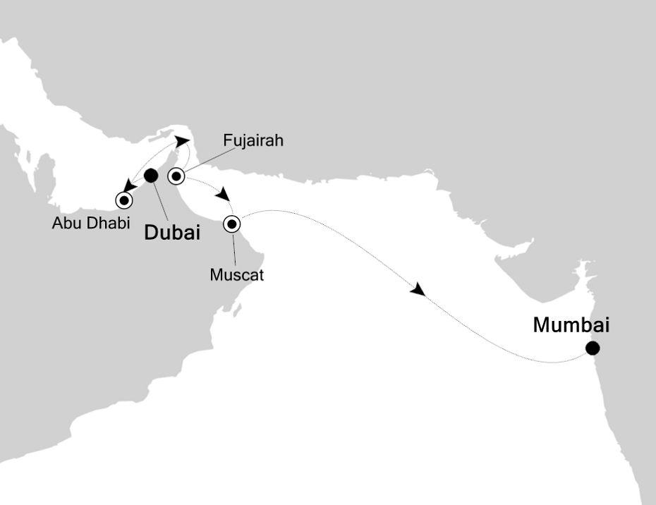5933 - Dubai nach Mumbai