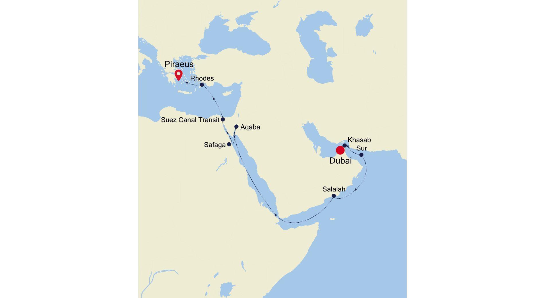 3910 - Dubai a Piraeus