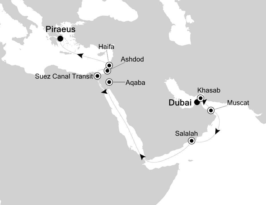 5007 - Dubai nach Piraeus