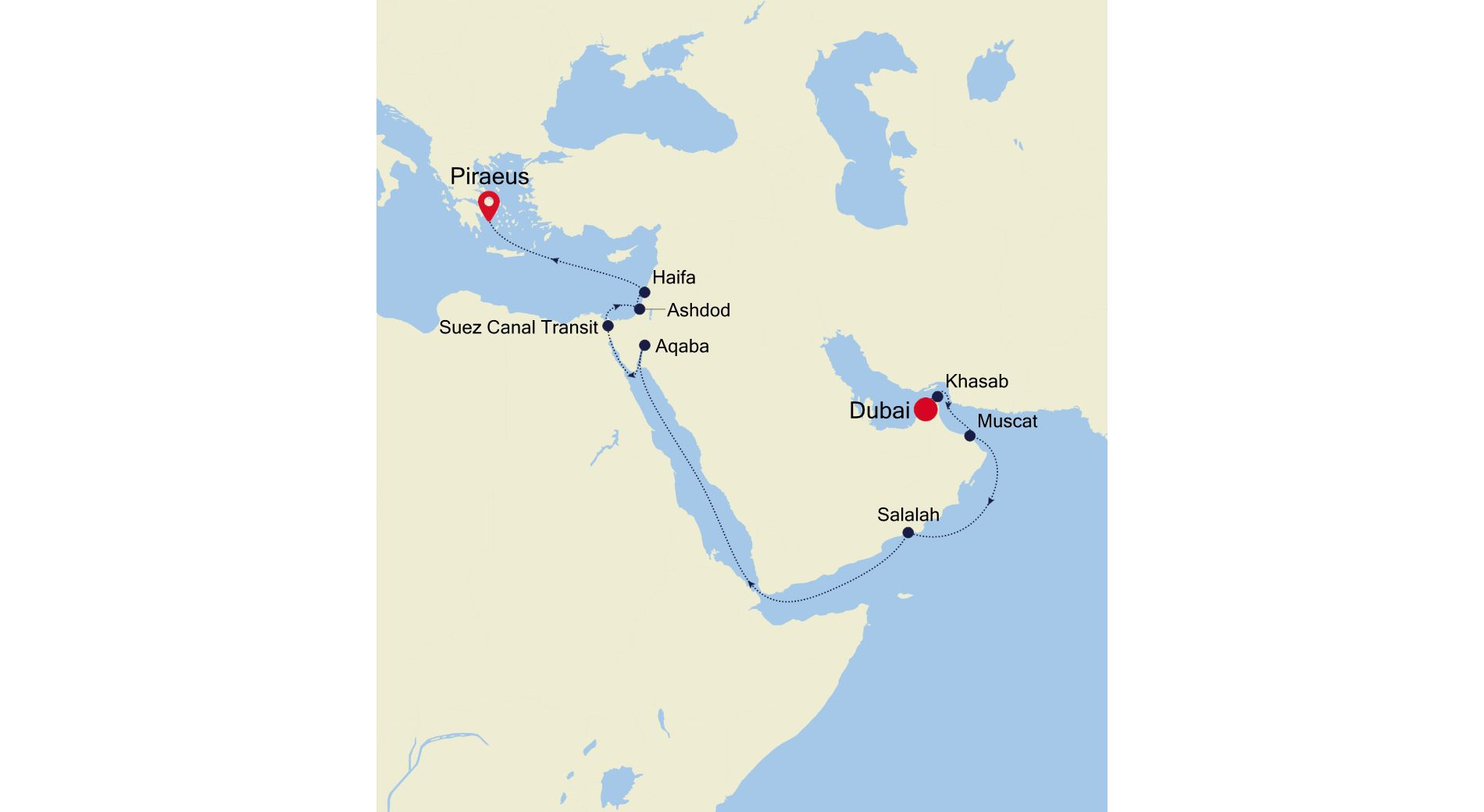 5007 - Dubai to Piraeus