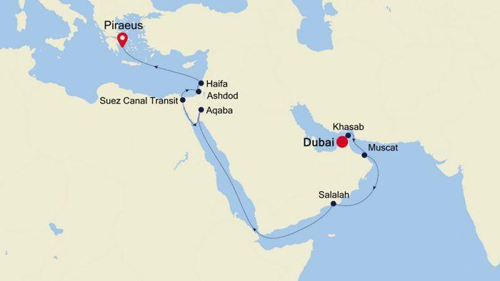 Luxury Cruise from DUBAI to ATHENS (Piraeus) 25 Mär 2020 ...