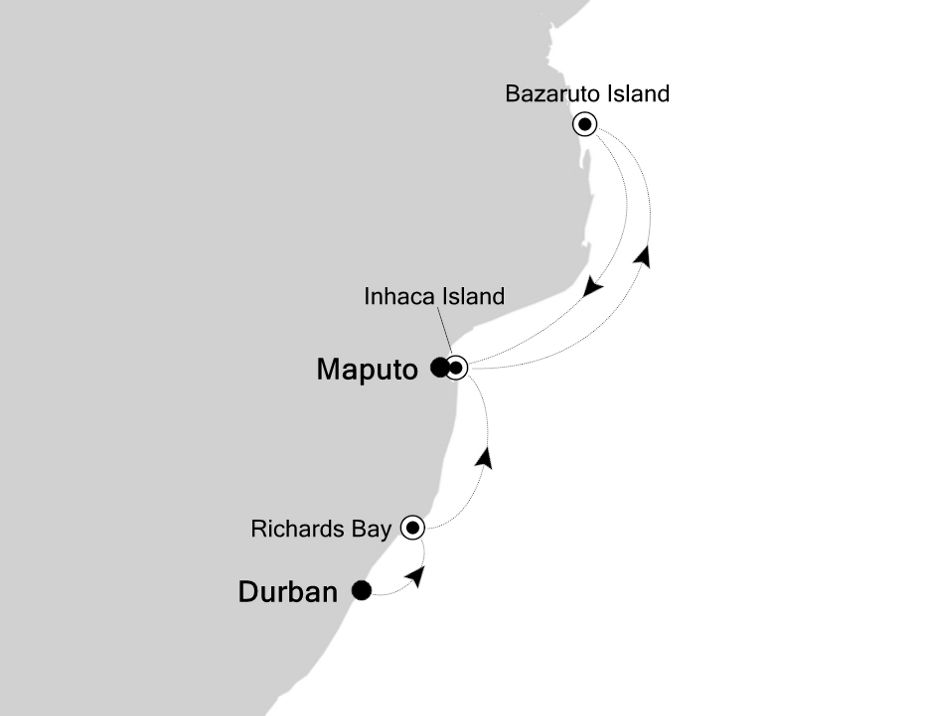 9828A - Durban a Maputo