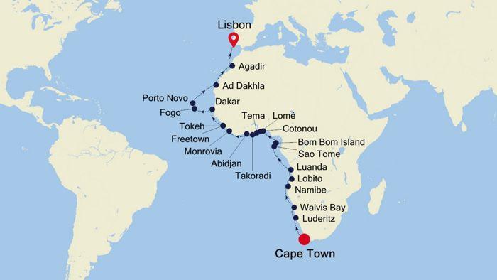 Luxury Cruise From Cape Town To Lisbon 20 Mär 2020 Silversea