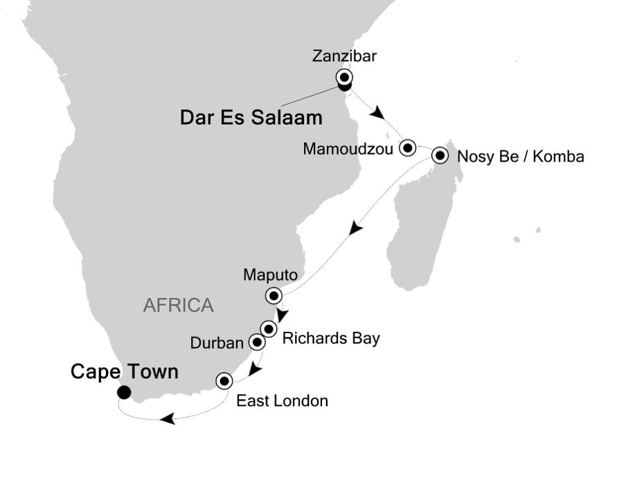 4907 - Mombasa to Cape Town