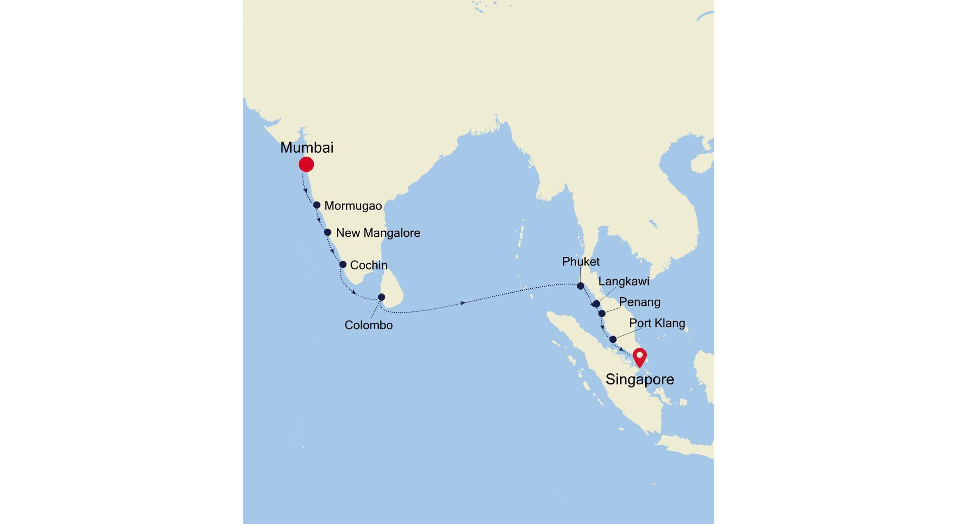 MO211126014 - Mumbai to Singapore