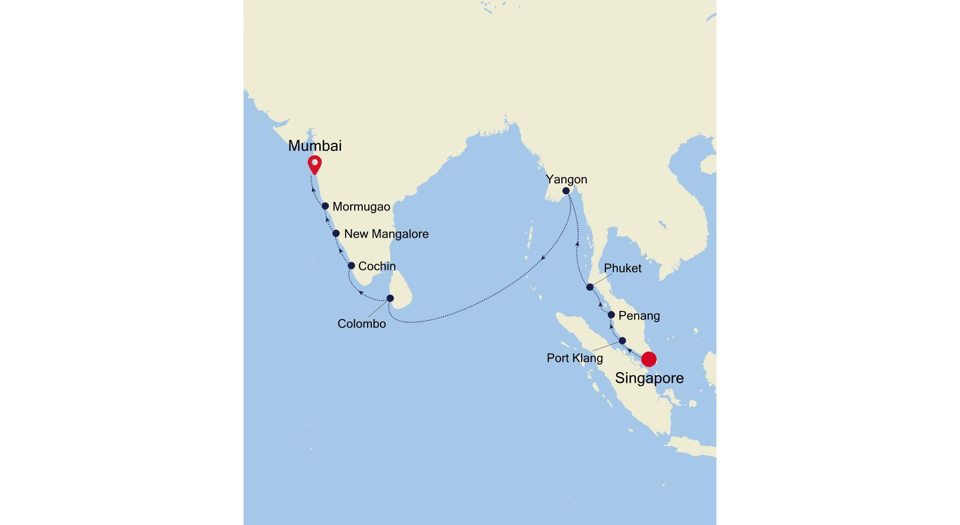 MO220214018 - Singapore nach Mumbai