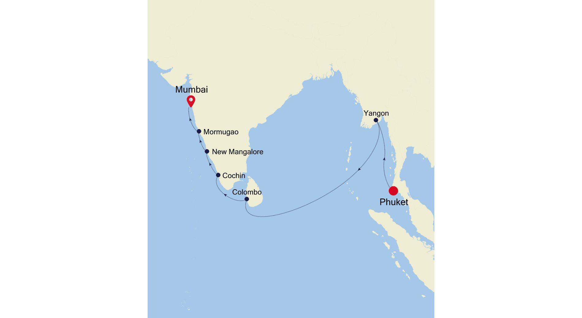 MO220217S15 - Phuket à Mumbai