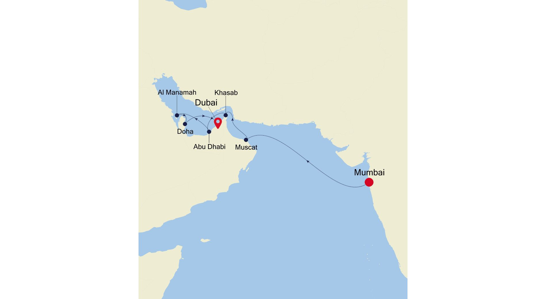 MO220304010 - Mumbai nach Dubai