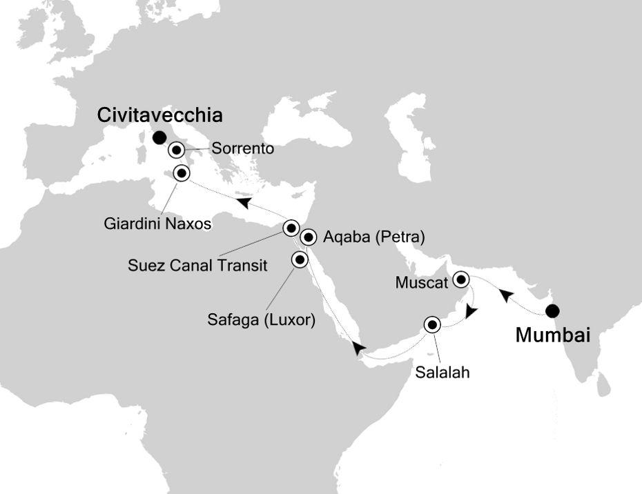 4007 - Mumbai à Civitavecchia