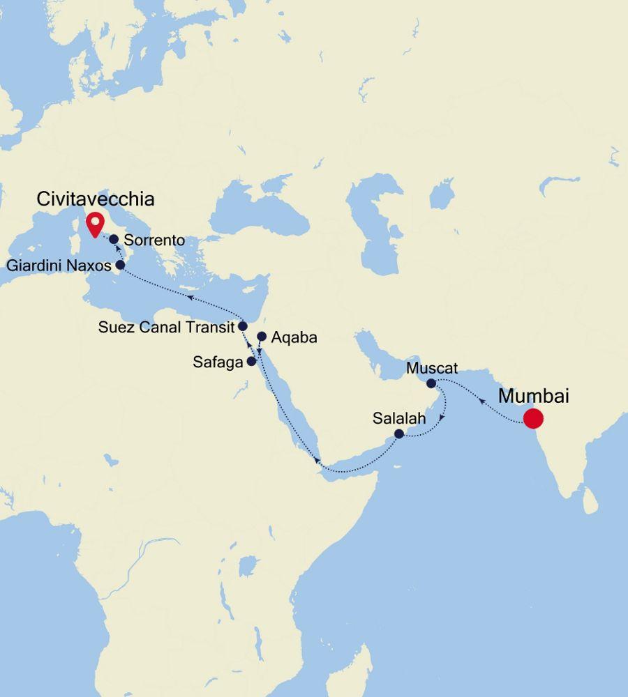 4007 - Mumbai to Civitavecchia