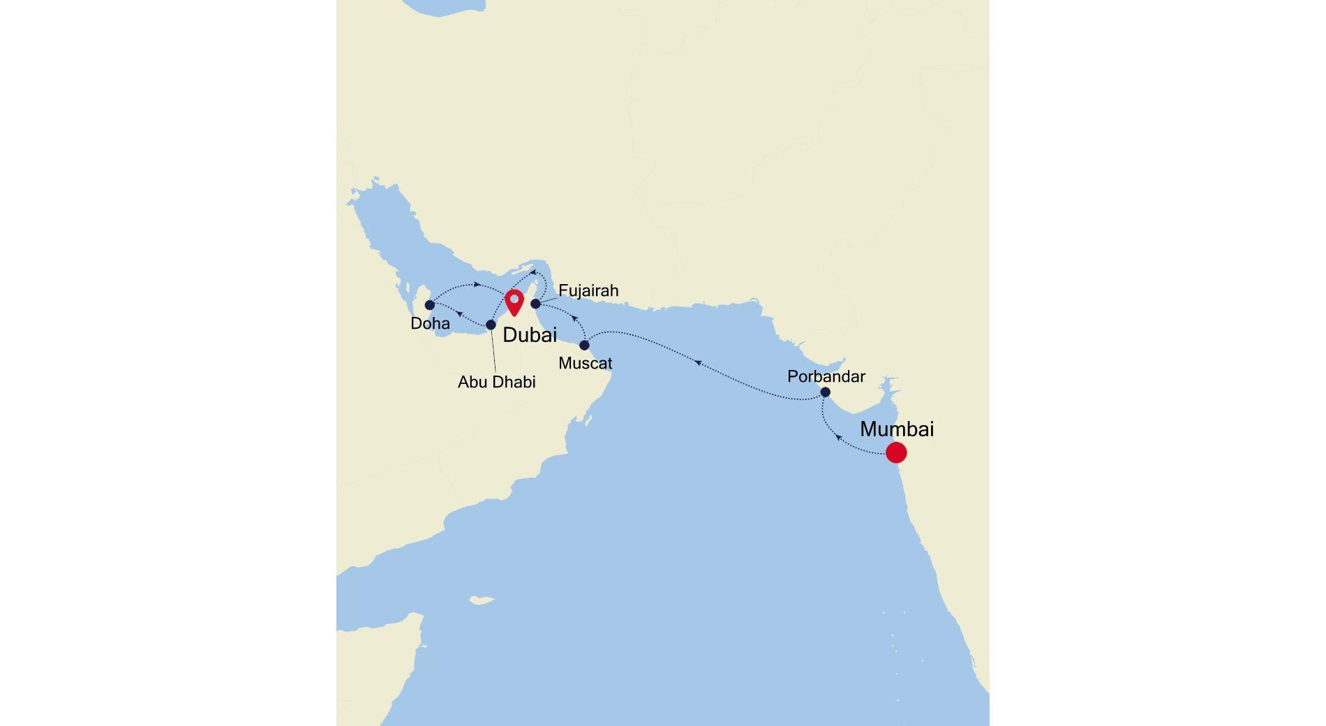 3909 - Mumbai a Dubai