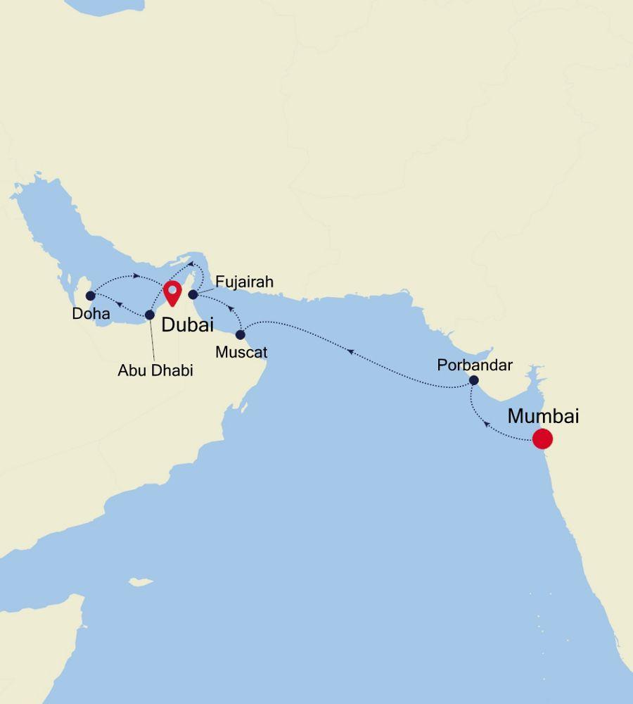 3909 - Mumbai nach Dubai
