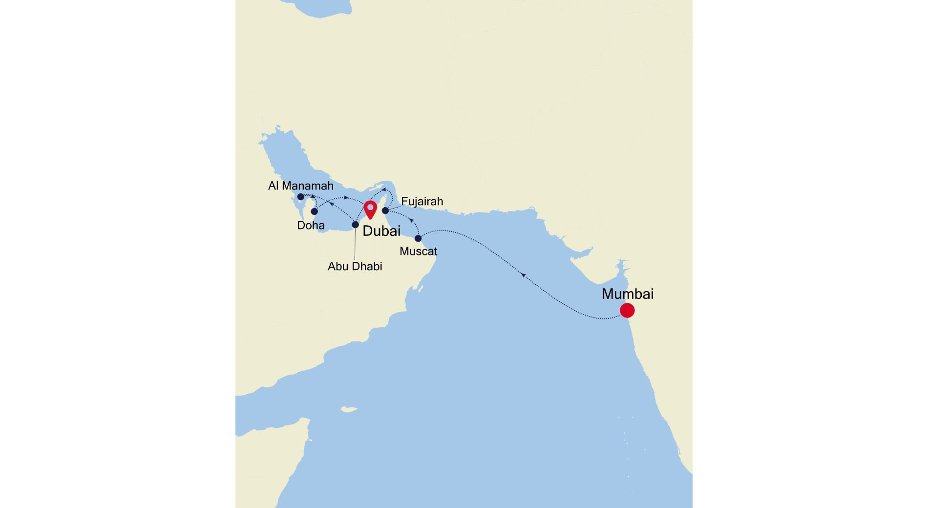 5006 - Mumbai to Dubai