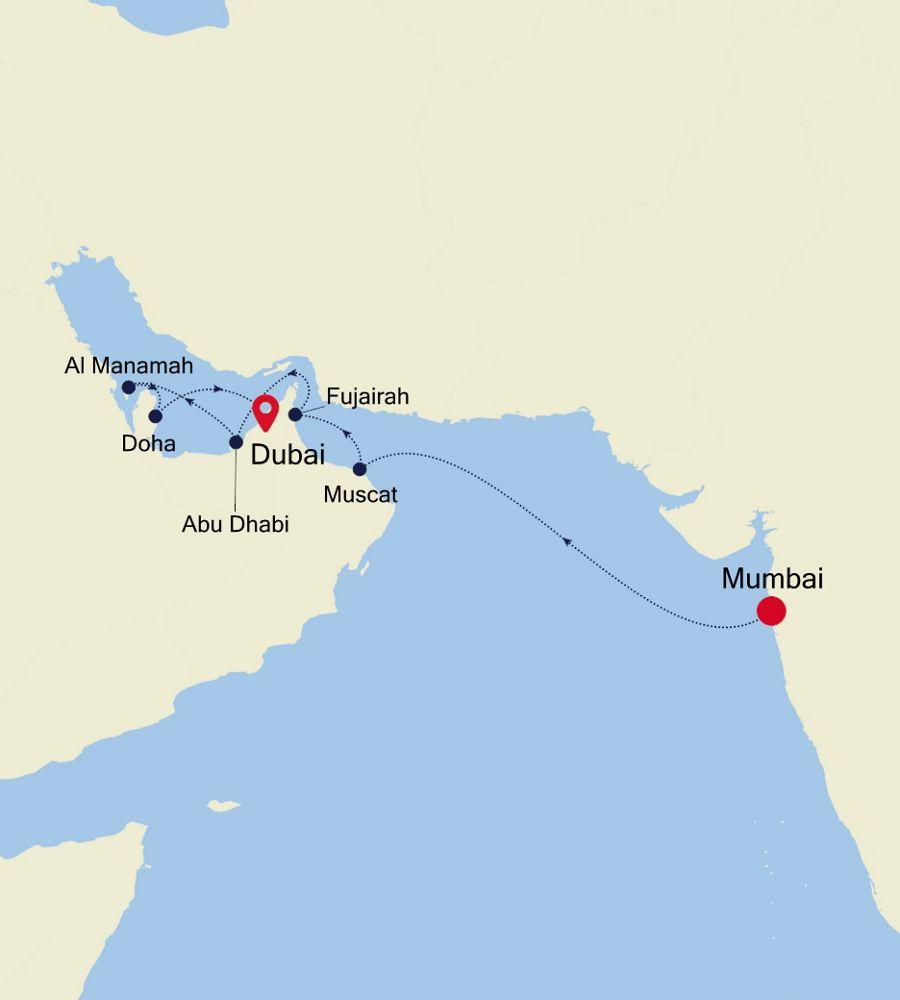 5006 - Mumbai nach Dubai
