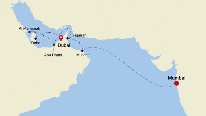 Luxury Cruise from MUMBAI to DUBAI 15 Mär 2020   Silversea