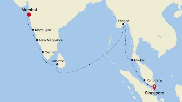 Luxury Cruise from MUMBAI to SINGAPORE 19 Nov 2019 | Silversea