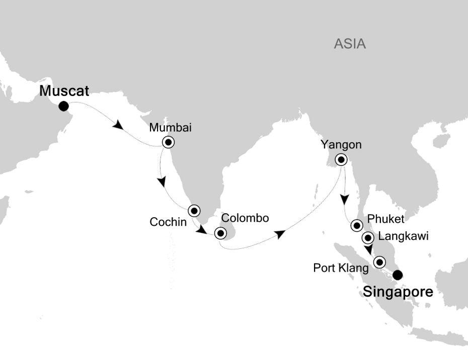 6830 - Muscat nach Singapore