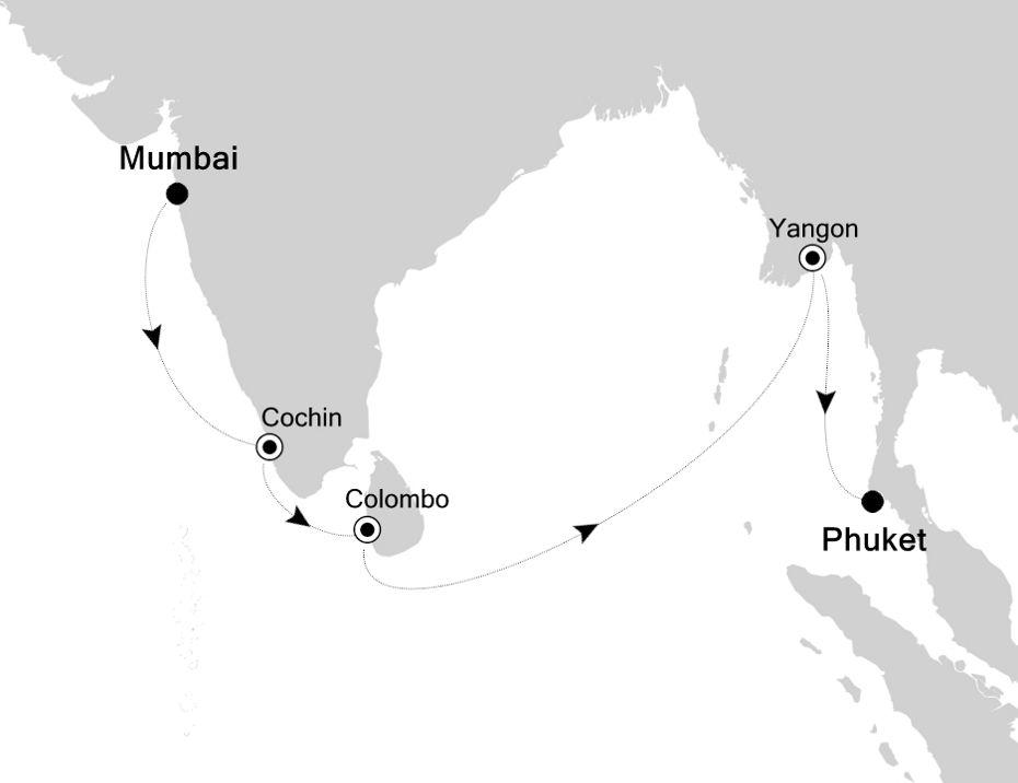 6830E - Mumbai nach Phuket