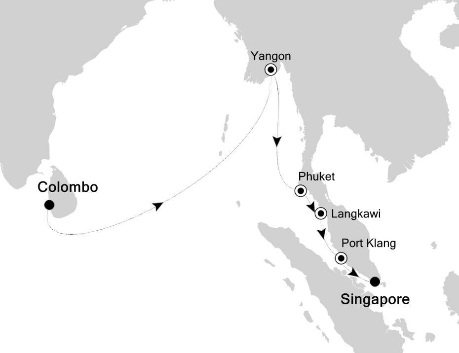 6830B - Colombo nach Singapore