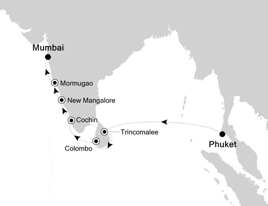 3908A - Phuket nach Mumbai