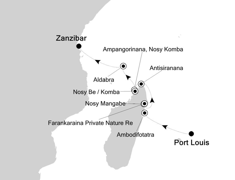 9826 - Port Louis to Zanzibar