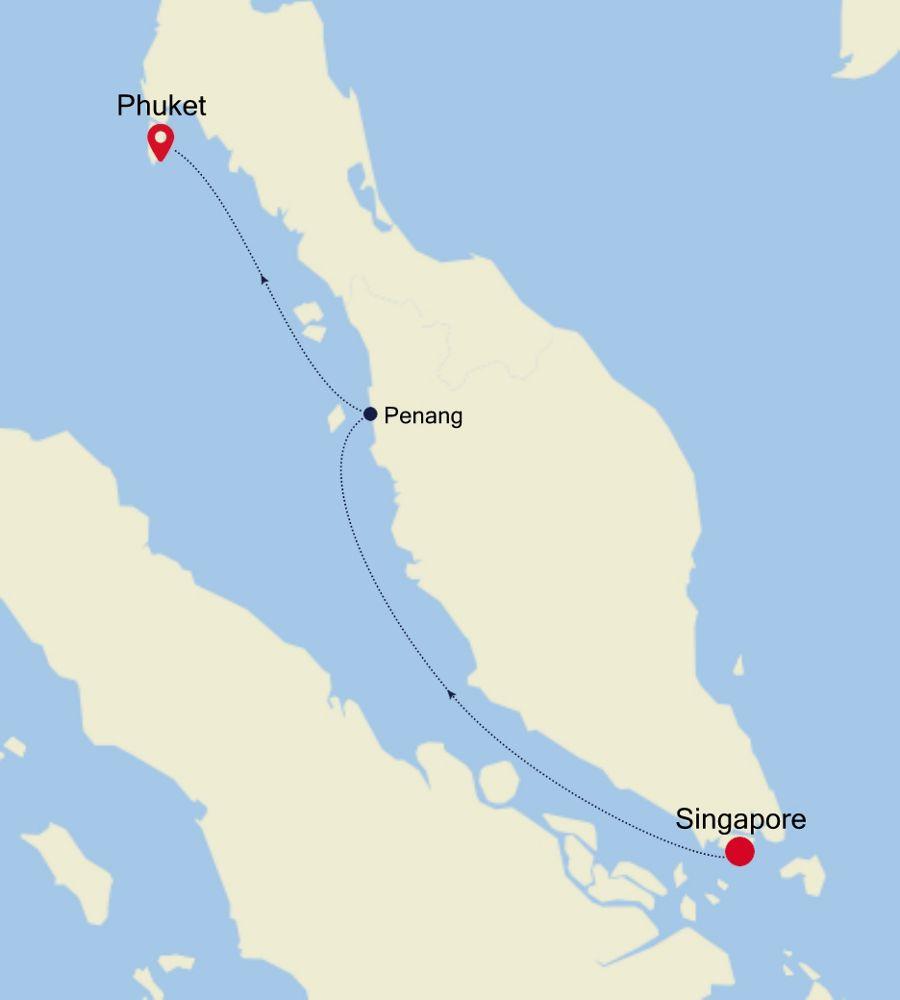 3908B - Singapore à Phuket