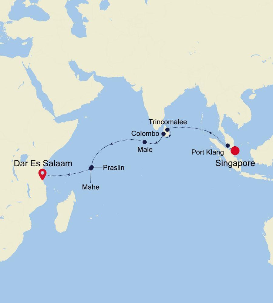 4906 - Singapore nach Mombasa