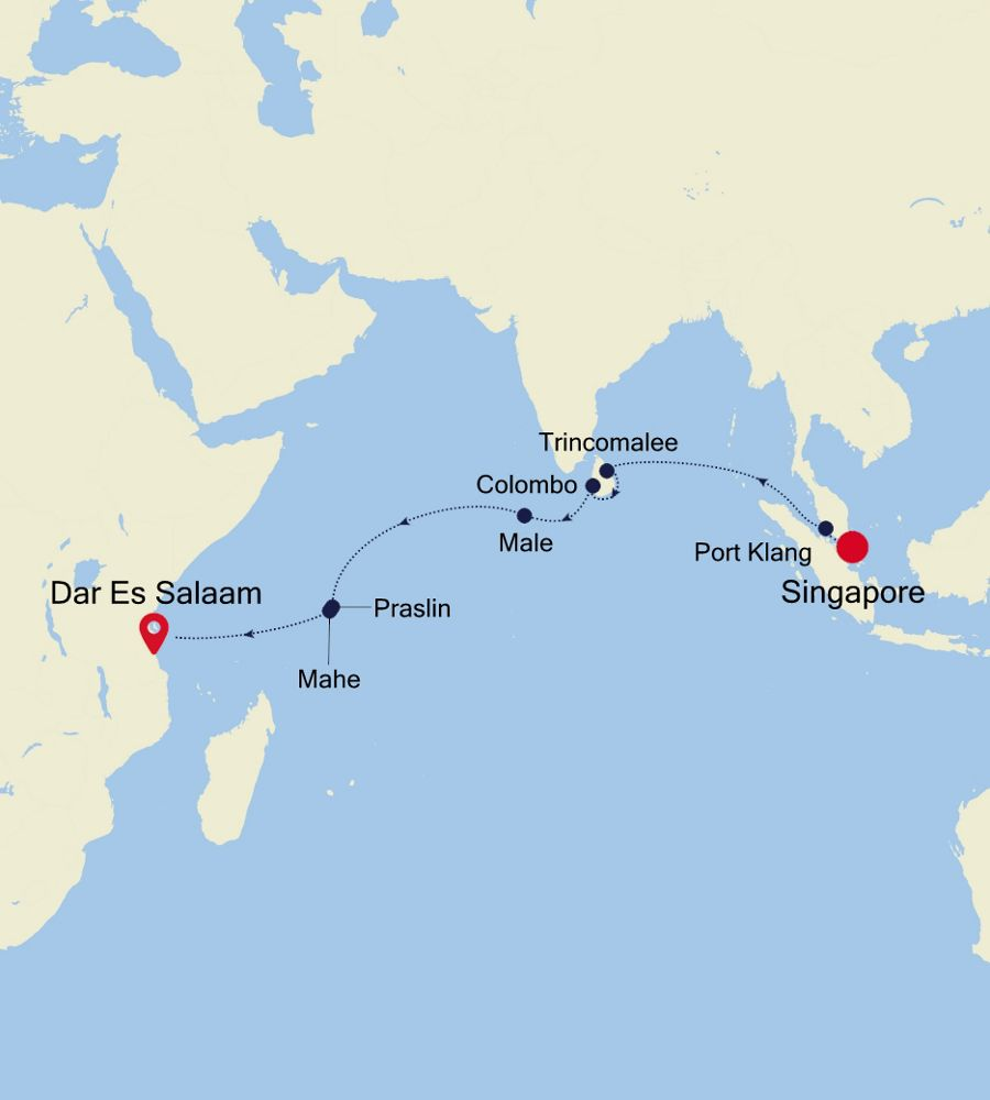 4906 - Singapore à Mombasa