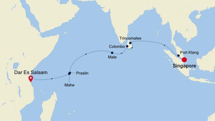 Luxury Cruise from SINGAPORE to MOMBASA 18 Mar 2019   Silversea