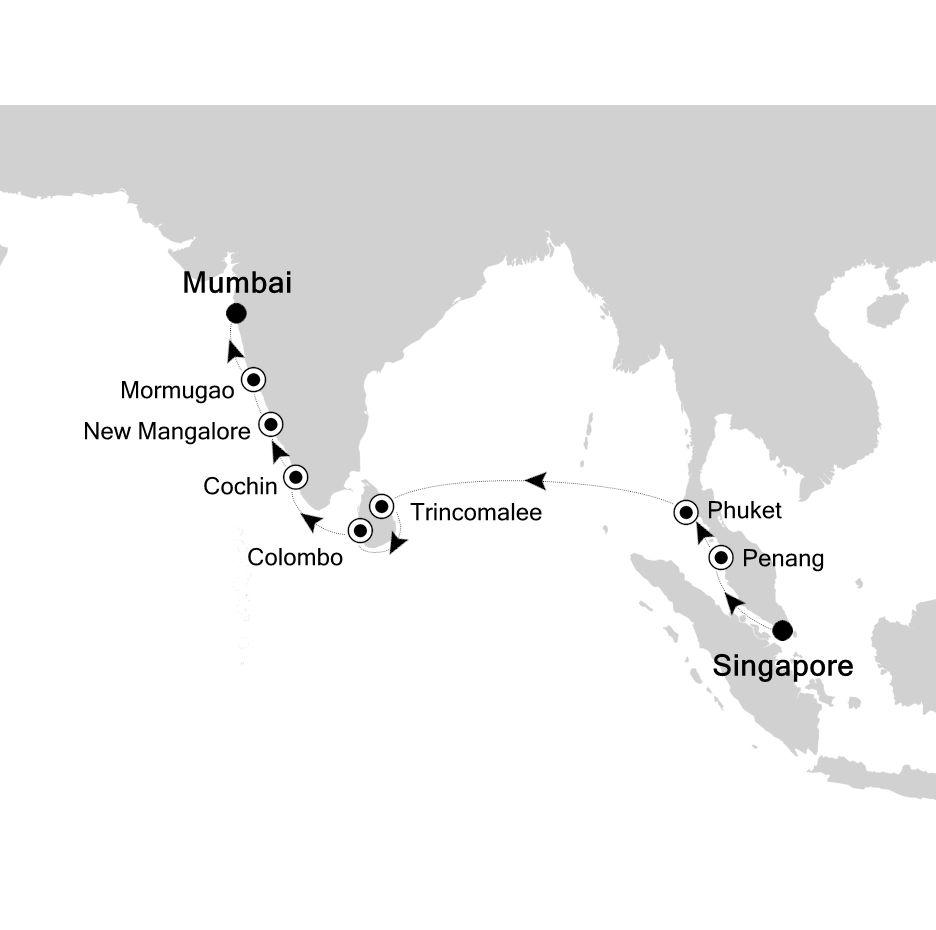 Luxury Cruise From Singapore To Mumbai 02 Apr 2019 Silversea