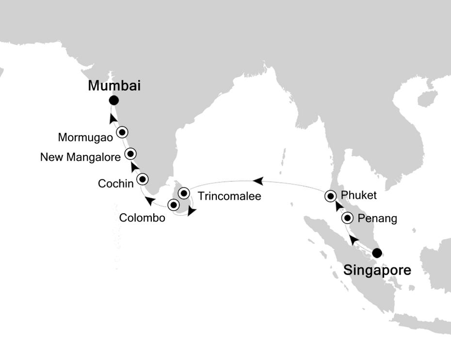3908 - Singapore a Mumbai