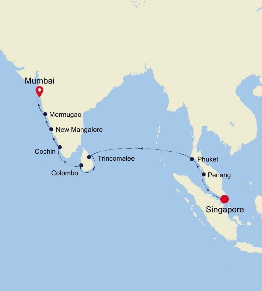 3908 - Singapore to Mumbai
