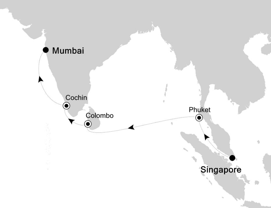 4006 - Singapore to Mumbai