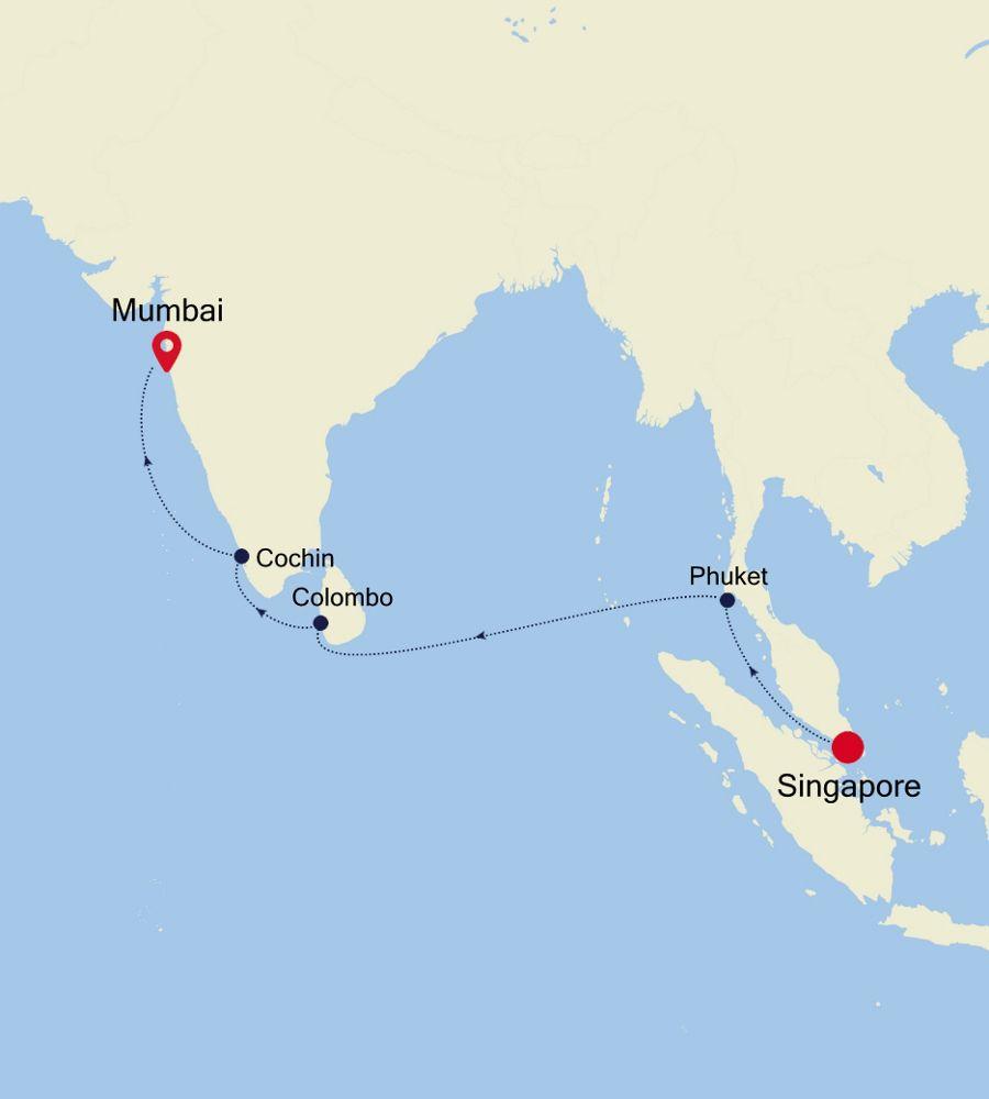 4006 - Singapore nach Mumbai