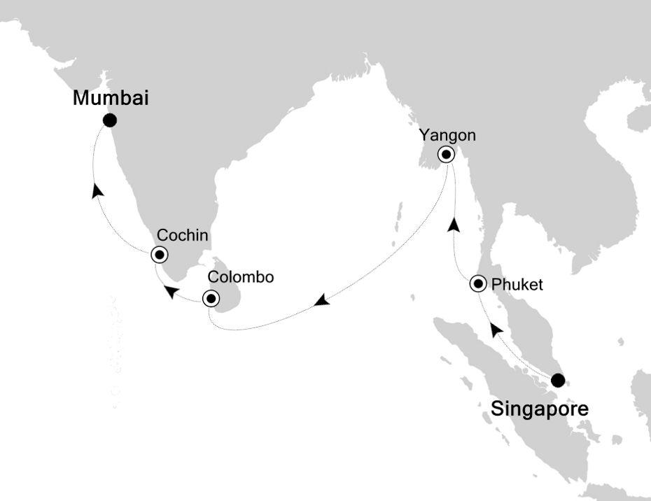 5005 - Singapore à Mumbai