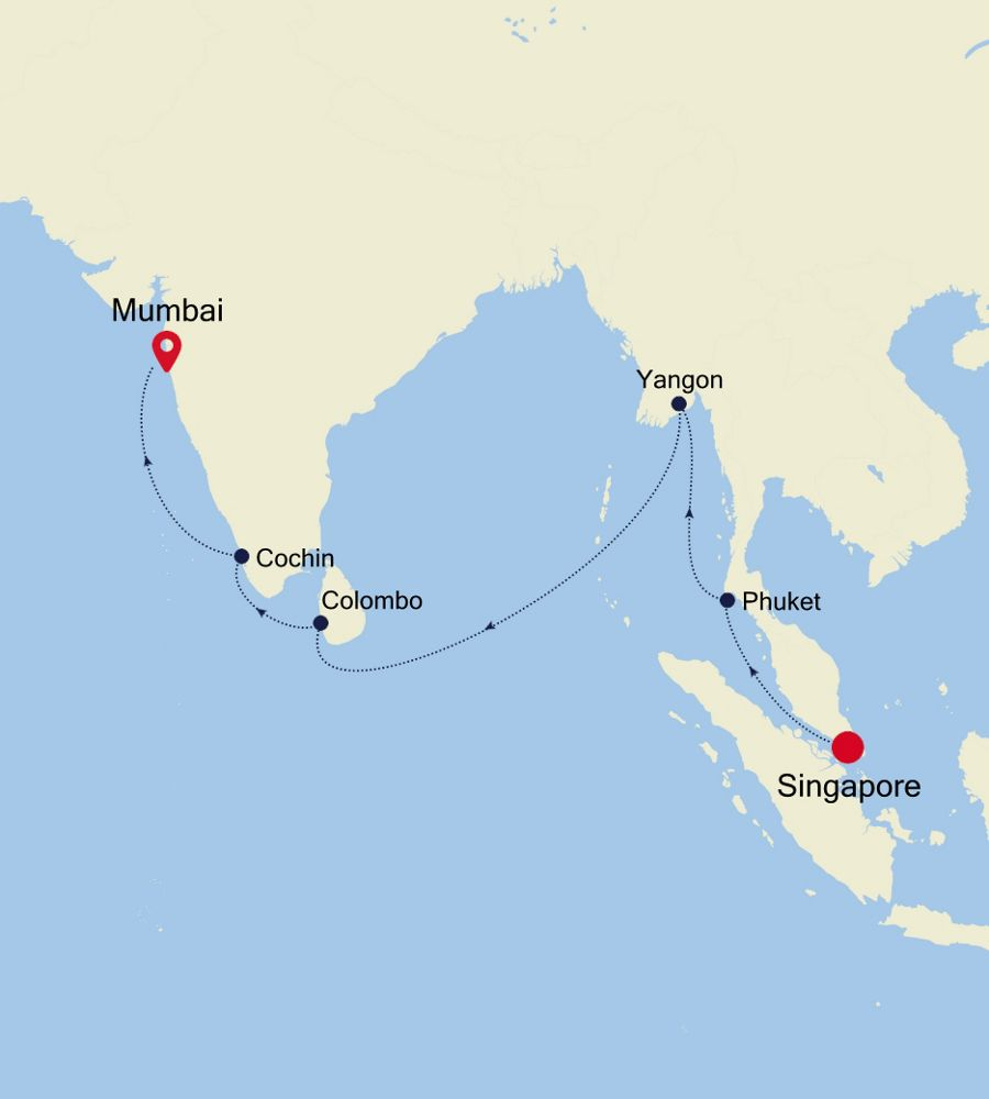 5005 - Singapore to Mumbai