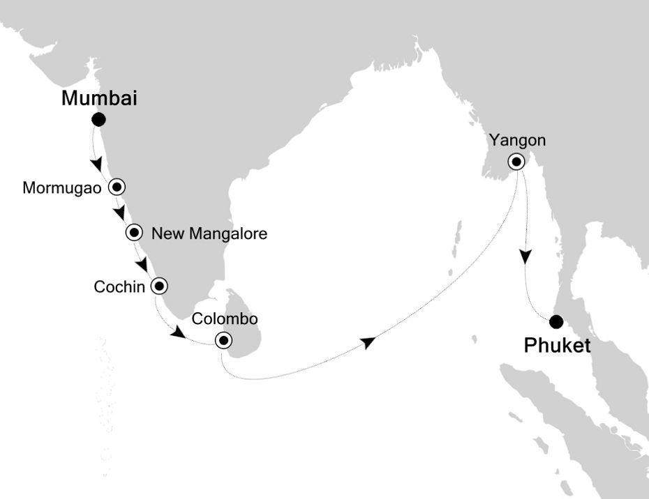 5934A - Mumbai to Phuket