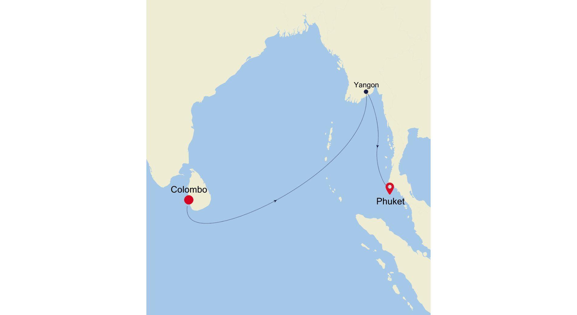 5934C - Colombo to Phuket