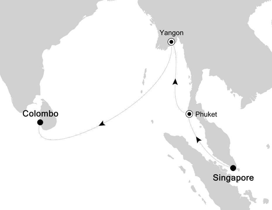 5005D - Singapore à Colombo