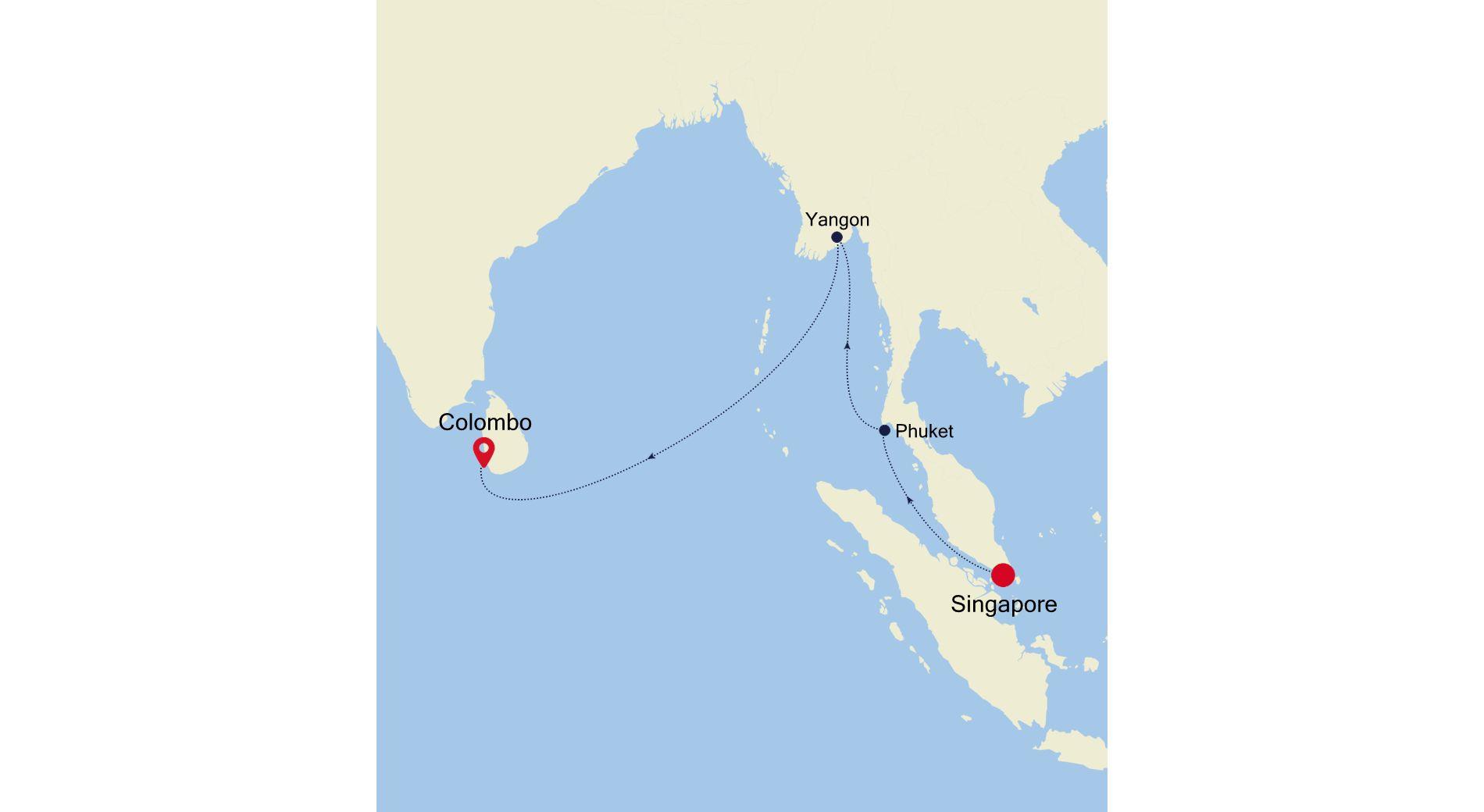 5005D - Singapore a Colombo