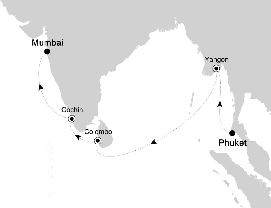 5005A - Phuket to Mumbai