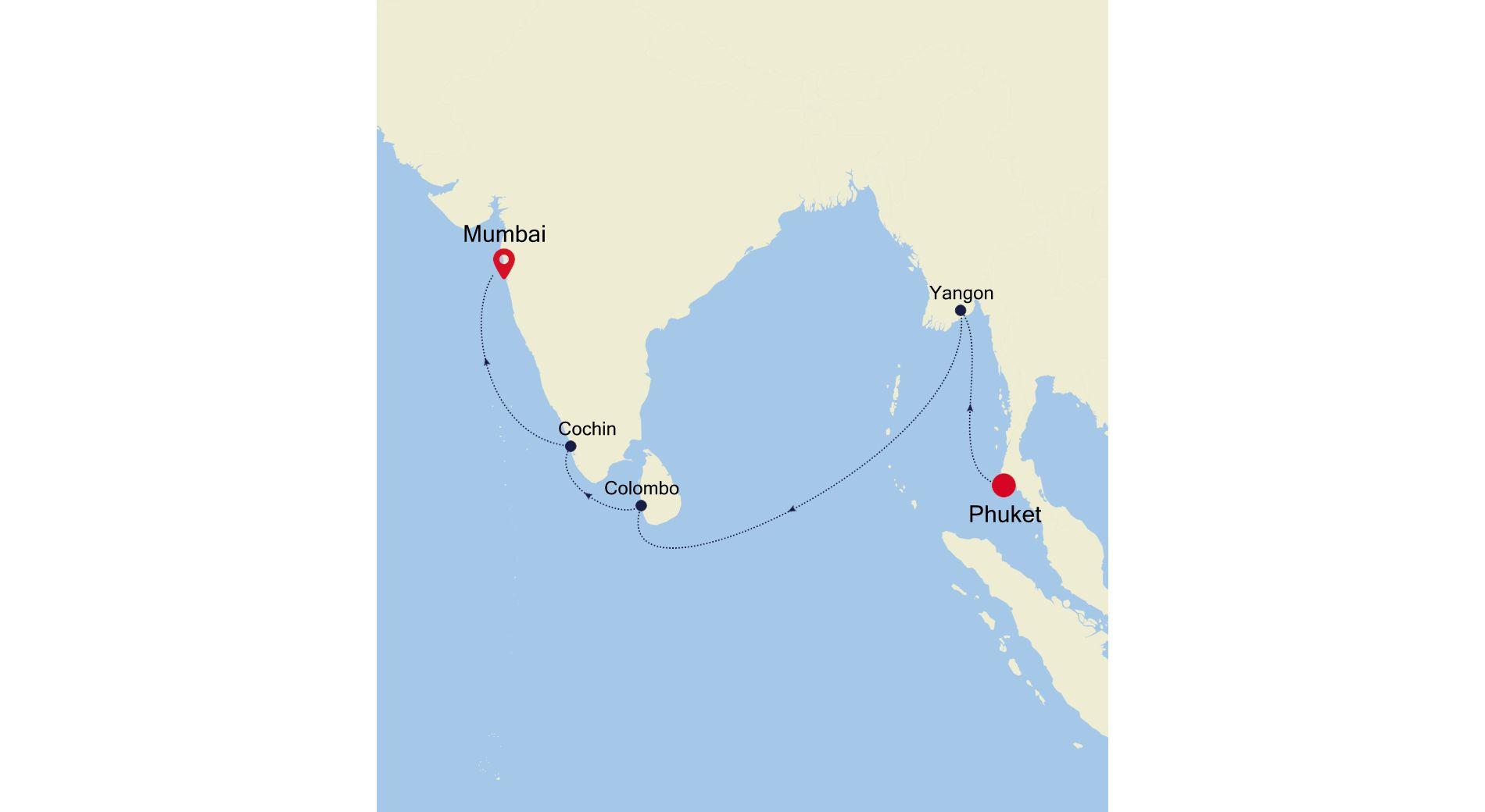 5005A - Phuket nach Mumbai